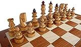 ChessEbook Edles Schachspiel BIZANT 59 x 59 cm Holz, Handgeschnitzt