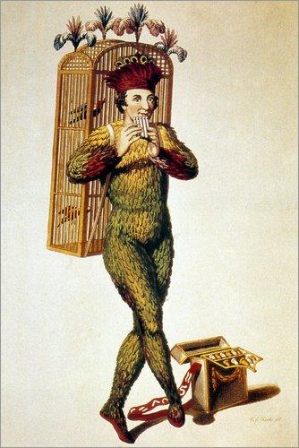 Zauberflöte Kostüm - Poster 61 x 91 cm: Mozart: