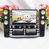 VIDOO Hi-Fi Tv Cabinet Set Combo For Barbie Doll House Furniture Living Room Dollhouse Decoration