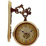 ZHUNSHI Orologio Moda Creativa Muto Pastorale Continentale Antico Salotto Orologio Pendolo Orologio da,10 Pollici,B8140FS