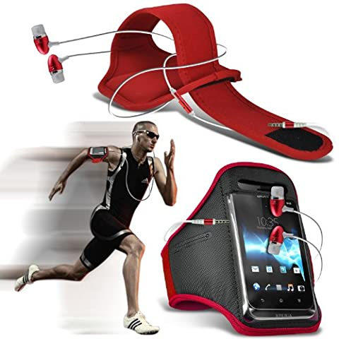ONX3® ( Red + Earphone ) Huawei Ascend Mate 7