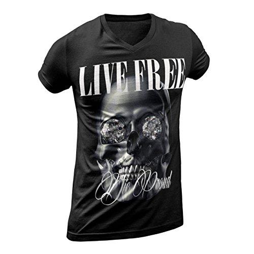 "LIVE FREE DIE PROUD - ""PATRON"" - HERREN T-SHIRT Schwarz"