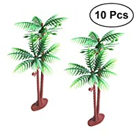 Tinksky Plastic Coconut Palm Tree Miniature Plant Pots Bonsai Craft Mini Scenery Landscape DIY Doll House Resin Decoration