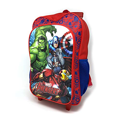 Kindergepäck Deluxe Trolley Trolley Trolley Koffer Koffer Kabinentasche Schule Rot Marvel Avengers Large -