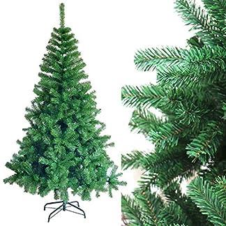 DISON TOYS Árbol de Navidad Artificial PVC Árbol Decorativo Verde con Soporte de Metálico Decoración Navideña 150cm (150cm)