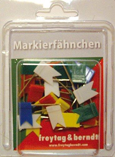 Preisvergleich Produktbild freytag & berndt Poster + Markiertafeln: Freytag-Berndt Fähnchen, Pin Fähnchen bunt, 30 Stk. Packung, 32 mm Stecklänge