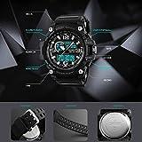Hala Fashion Military Series Analogue Digital Black Dial Khaki Strap Sports Watch for Men