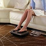 Naipo Fuss Massagegerät Shiatsu Fussmassage Gerät elektrische mit 18 Tiefknetende Massageköpfen, Hitzefunktion, Bedienung via Touch Therapie Fußmassager für Zuhause und Büro Entspannung Test
