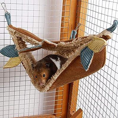RONSHIN Hamster Triangle Hammock Winter Warm Velvet Sleeping Nest for Syrian Hamster Sugar Glider Pet Supplies by RONSHIN