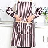 Mimagogo Art und Weise Striped Schürze mit Taschen Thick Anti-Ã-l-Haushalt Küche Schürze