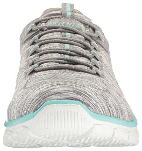 Skechers Damen Impero-gioco Su Slip Sneaker Grau (grigio / Azzurro)