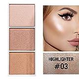 Allbesta 4 Farben Highlighter Palette mit Kontur Pulver Rouge Bronzer Make-Up Gesicht Profi Erröten Contouring Kosmetik
