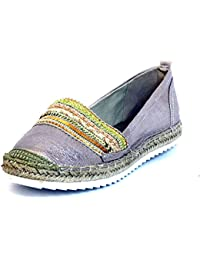 Mujeres Zapatos llanos metalizado 011018F4T BROR