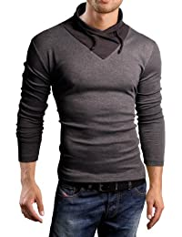 Grin&Bear Slim Fit pull, sweat shirt col châle, BH111, BH113
