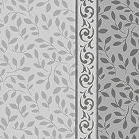 Decorline- Stoviglie plastica Deluxe- per feste decorate-Party - usa e getta - Color Bianco,con bordo in argento - Plastica rigida - Utilizzare monouso (Tovagliolo 33X33 CM) - Piatti Di Plastica Tovaglioli