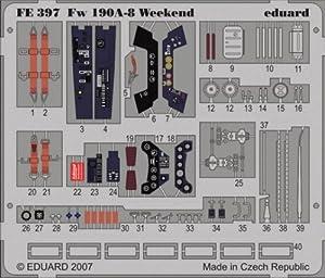Eduard Accessories fe39730502000Focke Wulf FW 190a de 8Weekend para Eduard Montar