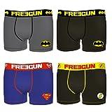 Freegun Boxershort Baumwolle Jungen Pack of 4 DC Comics Justice League Batman Superman Flash (12/14 Jahre, Pack of 4)