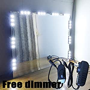 mirror led light for hollywood makeup mirror vanity mirror with lights with dimmer 5ft 10ft 5. Black Bedroom Furniture Sets. Home Design Ideas