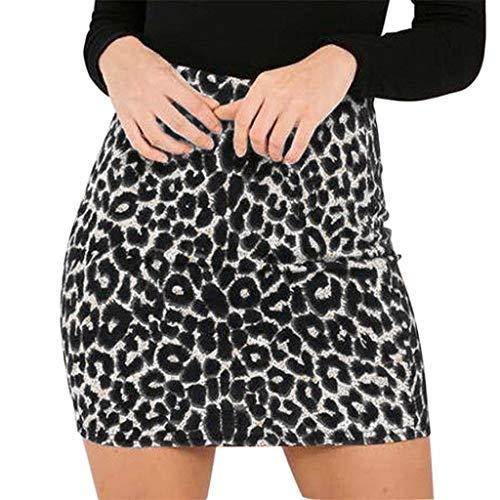Lenfesh Negro Amarillo Tendencia Femenina Leopardo Salvaje Impreso Cintura Alta Lápiz Sexy Cadera Flaca Club Nocturno Minifalda