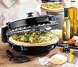 Giles & Posner EK2309BLACK Italian Stone Baked Bella Pizza Maker, 1200 W, Black