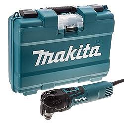 Makita TM3010CK/2 TM3010CK Oscillating Multi 320W with Tool-Less Accessory Change 240V, 320 W, 240 V, Blue, Small