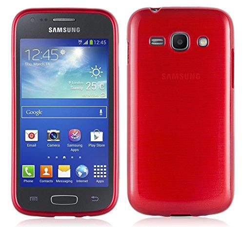 Cadorabo Coque pour Samsung Galaxy ACE 3 en Rouge Cerise - Housse Protection Souple en Silicone TPU avec Anti-Choc et Anti-Rayures - Ultra Slim Fin Gel Case Cover Bumper