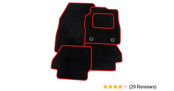 VAUXHALL CORSA D TAILORED CAR MATS WITH RED TRIM 1312 2006 TO 2014