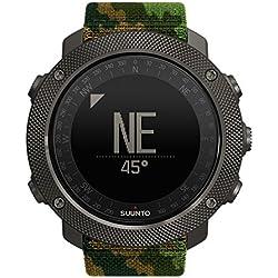 Suunto - Traverse Alpha - SS023445000 - Reloj GPS Outdoor para pesca, caza y excursionismo - Sumergible - Edición Woodland (Verde camuflaje) - Talla única