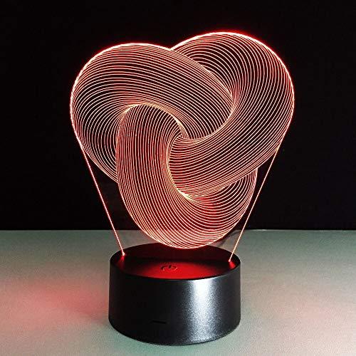 HNXDP Abstract Image 3d Tischlampe Baby Nachtlicht Novel Nachttischlampe Mini Nightlights Batteriebetriebene Lampen Veilleuse Enfant Lampy