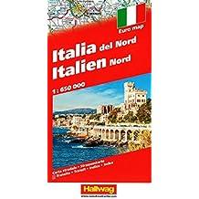 Hallwag Straßenkarten, Italien Nord (Hallwag Strassenkarten)