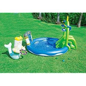 Thole Piscine per Bambini con Scivolo Gomma Gonfiabili Grandi Risparmio Casa Toys 90.9
