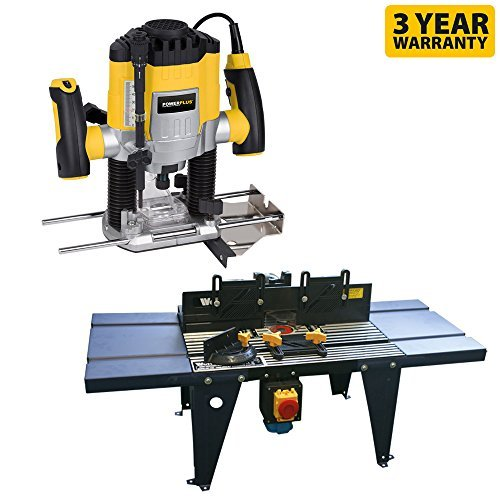 Powerplus 1200w Plunge Router & Wolf Router Table Kit
