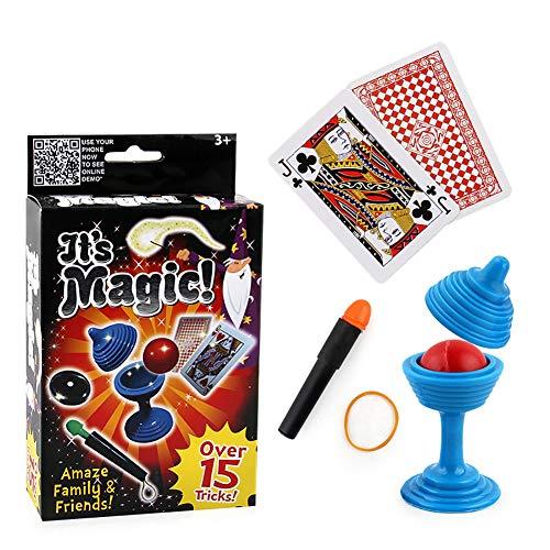 1set Zauberrequisiten Close-Up Bühne Magie Spielzeug für Kinder Kinder umfassen die Ball Vase Snap es und Karte Monte