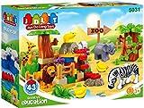 #6: Saffire Forest Animal Zoo Building Blocks , Multi Color (43 Count)
