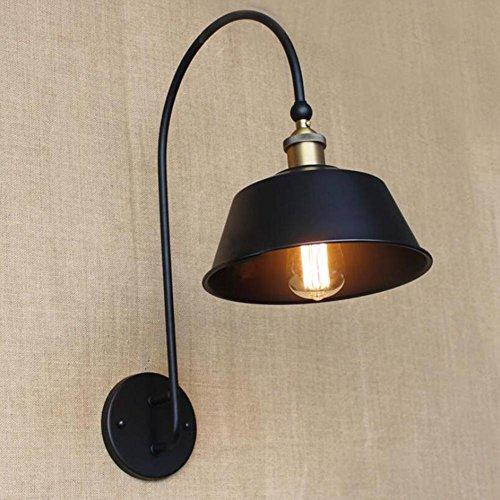 ZT Appliques Créatif de plein air Bras courbé Simple Métal LED Industriel abat-jour E27 personnalité Intérieur Chevet Éclairage Fixation