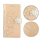 BoxTii Coque iPhone X/iPhone XS, Gaufrage Luxueux Étui en Cuir avec Fonction Support...