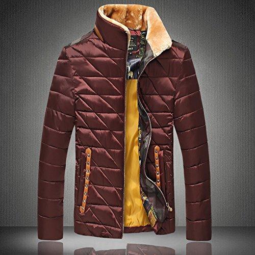 Uomini YCMDM Giù Giacca Grande cotone caldo inverno Cotone , deep red , xl