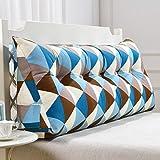 uus Blaue quadratische Dreieck-Sofa-Kissen-Bett-Kopf-Kissen-ergonomische Entwurfs-Lehne und Taille umweltsmäßig waschbare Abdeckung mit 3D hoch-elastischer Perlen-Baumwollfüllung ( größe : 200cm(7 Buttons) )
