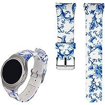 Correa de reloj de recambio, de iFeeker. De silicona suave. Diseño deportivo y colorido. Para reloj inteligente Samsung Galaxy Gear S2SM-720/SM-730, color Colour-h