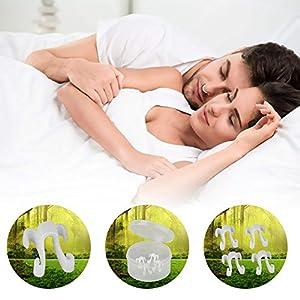 [Aufgerüstete Version] Lukesha Schnarchstopper – Weich Silikon, (4-Pack) Premium Anti Schnarch Mittel Nasendilatatoren für Nasenpflaster, Nasenklammer – Anti Snore Stopper von Experten Empfohlen