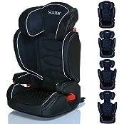 LCP Kids Kinderautositz Neptun iFix Isofix 15 bis 36 kg Gruppe 2 und 3 - wächst mit dem Kind da Kopfstütze und Seitenschutz verstellbar