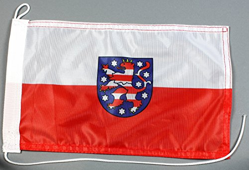 Bootsflagge Thüringen 20 x 30 cm in Profiqualität Flagge Motorradflagge