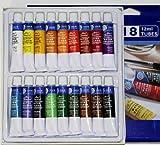 Aquarellfarben Set mit 36 Tuben bestehend aus zwei Sets mit 18 Farben
