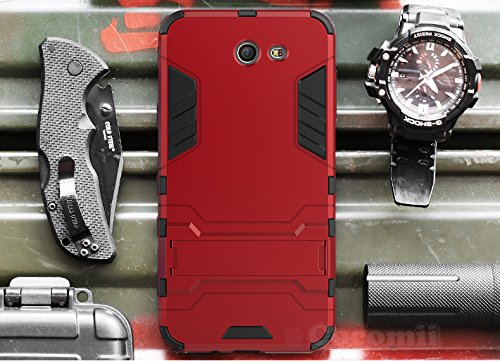 Preisvergleich Produktbild Galaxy J7 2017 / J7 Prime / J7 V / J7 Perx / J7 Sky Pro / Halo Hülle, Cocomii Iron Man Armor NEW [Heavy Duty] Premium Tactical Grip Kickstand Shockproof Hard Bumper Shell [Military Defender] Full Body Dual Layer Rugged Cover Case Schutzhülle Samsung (Red)