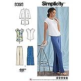 Simplicity Muster 8393Damen und Plus Größe Hose, Tunika oder Top, und Knit Cardigan, Papier, weiß, 22x 15x 1cm