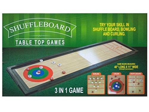 Preisvergleich Produktbild Bulk Buys 3 In 1 Shuffleboard Tabletop Game by bulk buys
