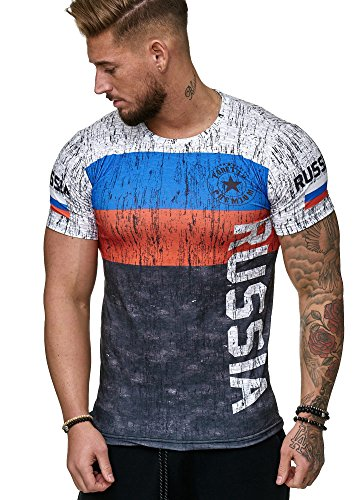 Herren T-Shirt Flag Slim Fit - Alemannia Deutschland Germany WM 2018 WC Weltmeisterschaft World Cup Russland 1005 M