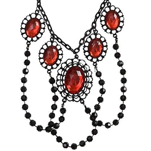 WIDMANN?Collar Gargantilla de perlas con 5Gemme Womens, multicolor, talla única, vd-wdm2971r