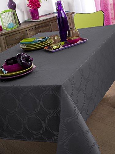 Calitex EVANA Nappe ovale Polyester Granit Damassé Ovale 170x240