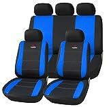 SITU universal Sitzbezüge für Auto Schonbezug Schoner Komplettset schwarz/blau SCSC0109
